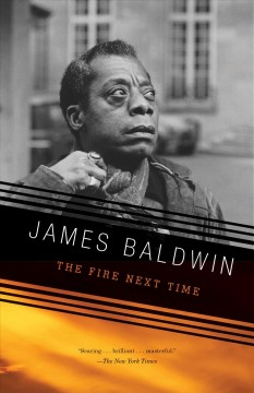 A photographic book cover of James Baldwin looking out into the distance