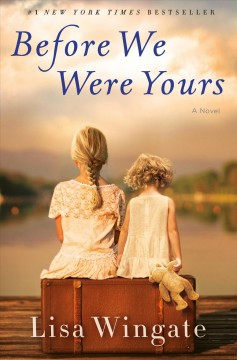 Book cover showing two girls sitting on a suitcase with their backs to the reader