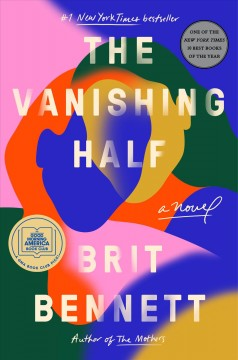 Colorful book cover with abstract shapes in which the outline of two women, overlapping at the heads, can be seen